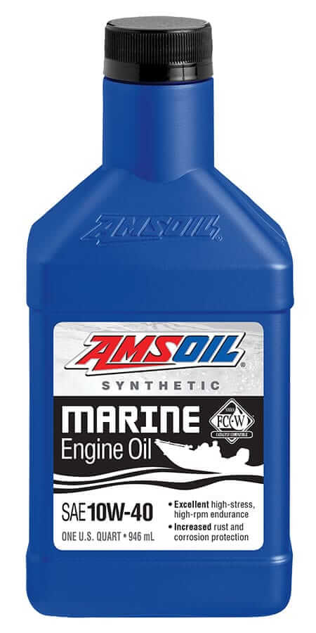 AMSOIL 10W-40 Synthetic Marine Engine Oil NMMA Certified