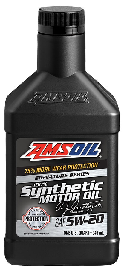 Amsoil signature series 5w 20 synthetic motor oil for Top rated motor oil synthetic